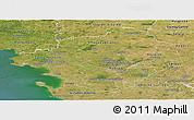 Satellite Panoramic Map of Loire-Atlantique