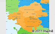 Political Shades Simple Map of Loire-Atlantique