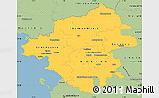 Savanna Style Simple Map of Loire-Atlantique