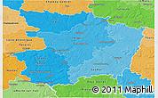 Political Shades 3D Map of Maine-et-Loire