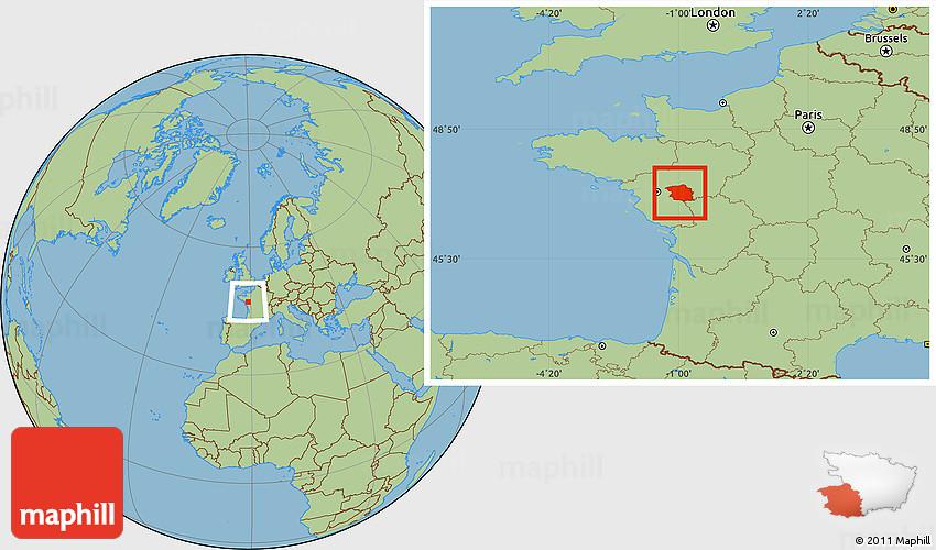 Savanna Style Location Map of Cholet