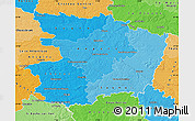 Political Shades Map of Maine-et-Loire