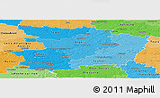 Political Shades Panoramic Map of Maine-et-Loire