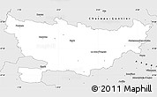 Silver Style Simple Map of Segré