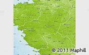 Physical Map of Pays-de-la-Loire