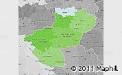 Political Shades Map of Pays-de-la-Loire, desaturated