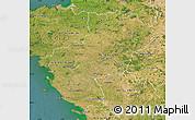 Satellite Map of Pays-de-la-Loire