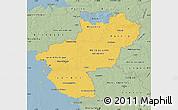 Savanna Style Map of Pays-de-la-Loire