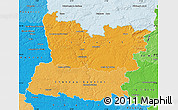 Political Shades Map of Mayenne