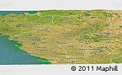 Satellite Panoramic Map of Pays-de-la-Loire