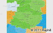 Political Shades 3D Map of Sarthe