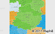 Political Shades Map of Sarthe