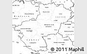 Blank Simple Map of Pays-de-la-Loire