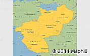 Savanna Style Simple Map of Pays-de-la-Loire