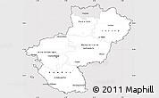 Silver Style Simple Map of Pays-de-la-Loire, cropped outside