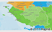 Political Shades 3D Map of Vendée
