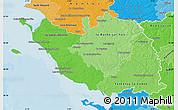 Political Shades Map of Vendée