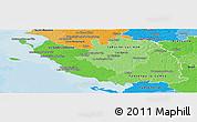 Political Shades Panoramic Map of Vendée