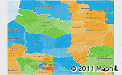 Political 3D Map of Picardie