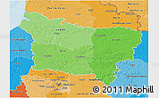 Political Shades 3D Map of Picardie
