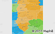 Political Shades 3D Map of Aisne