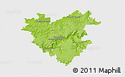 Physical 3D Map of Château-Thierry, single color outside