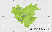 Physical Map of Château-Thierry, single color outside