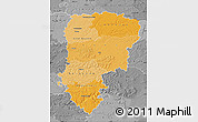 Political Shades Map of Aisne, desaturated