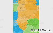 Political Shades Map of Aisne