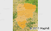 Political Shades Map of Aisne, satellite outside