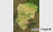 Satellite Map of Aisne, darken
