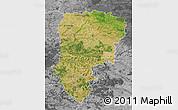 Satellite Map of Aisne, desaturated