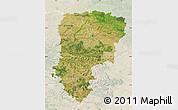 Satellite Map of Aisne, lighten
