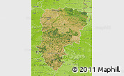 Satellite Map of Aisne, physical outside
