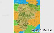 Satellite Map of Aisne, political outside