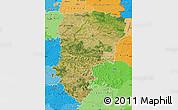 Satellite Map of Aisne, political shades outside