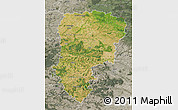 Satellite Map of Aisne, semi-desaturated