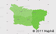 Political Shades Map of Picardie, cropped outside