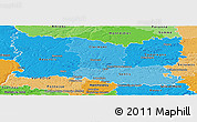 Political Shades Panoramic Map of Oise