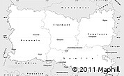 Silver Style Simple Map of Oise