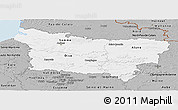 Gray Panoramic Map of Picardie