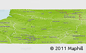 Physical Panoramic Map of Picardie