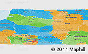 Political Panoramic Map of Picardie