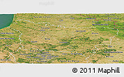 Satellite Panoramic Map of Picardie