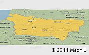Savanna Style Panoramic Map of Picardie
