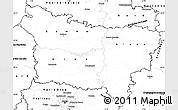 Blank Simple Map of Picardie