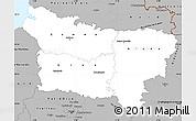 Gray Simple Map of Picardie