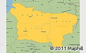 Savanna Style Simple Map of Picardie