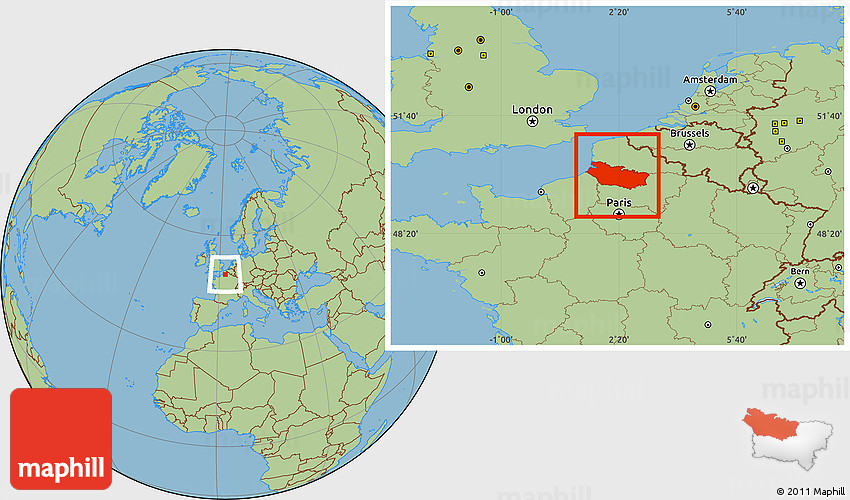 savanna style location map of somme. Black Bedroom Furniture Sets. Home Design Ideas