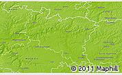 Physical 3D Map of Péronne